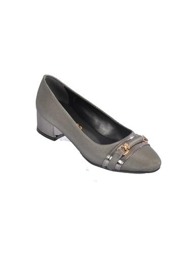Maje 6067 Platin Kadın Topuklu Ayakkabı Gümüş